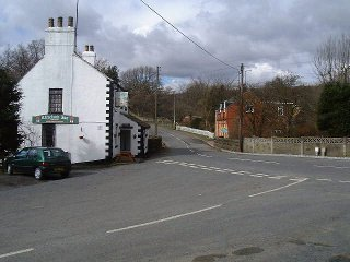 A view of Commondale showing the junction of the road and the Public House